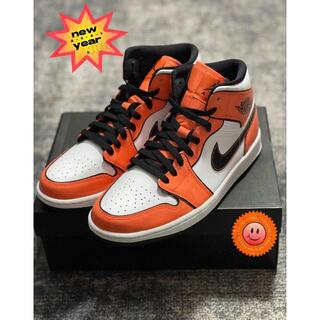 "NIKE - ★新品★Air Jordan 1 Mid SE""Turf Orange"" 二次元"