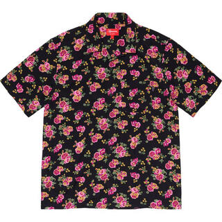 シュプリーム(Supreme)の未開封 XL Supreme Floral Rayon Shirt Black(シャツ)