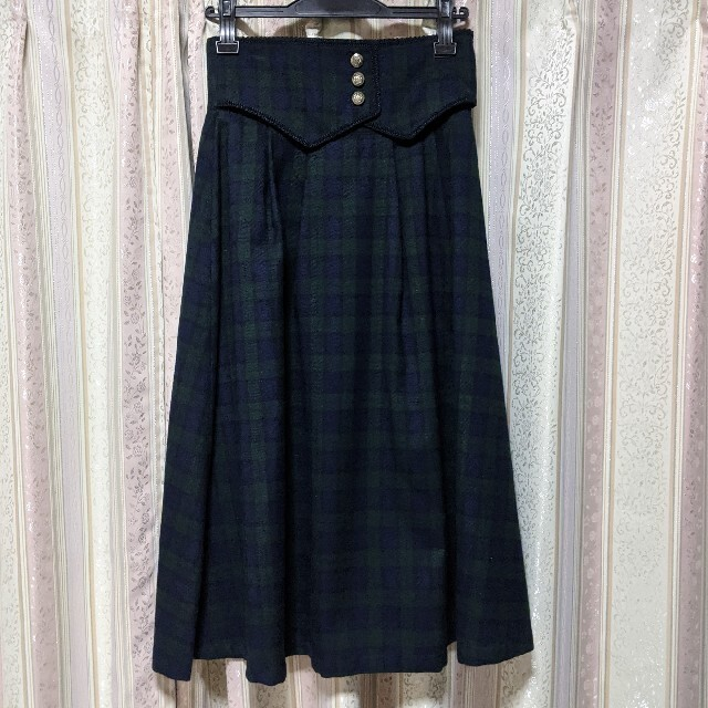 Maison de FLEUR(メゾンドフルール)のコルセットスカート レディースのスカート(ひざ丈スカート)の商品写真