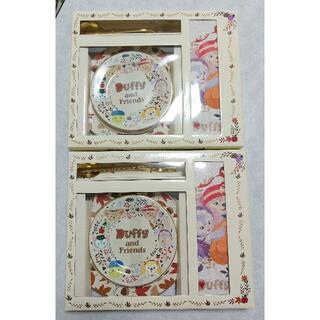 ダッフィー(ダッフィー)の上海ディズニー ダッフィーフレンズ 食器 カトラリー ランチョンマット 2セット(キャラクターグッズ)