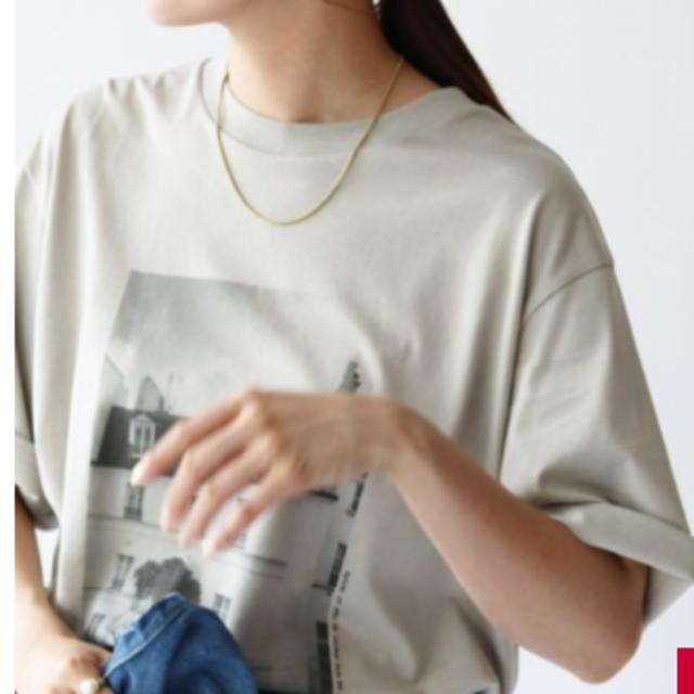 IENA(イエナ)のイエナ ParisフォトTシャツ グレー レディースのトップス(Tシャツ(半袖/袖なし))の商品写真