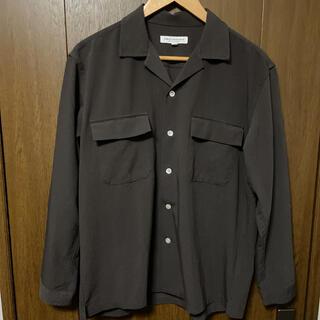 アーバンリサーチ(URBAN RESEARCH)の【URBAN RESEARCH】オープンカラーシャツ ブラウン Mサイズ(シャツ)