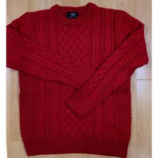 レイジブルー(RAGEBLUE)のレイジブルー  ケーブル  ニット  セーター  赤(ニット/セーター)