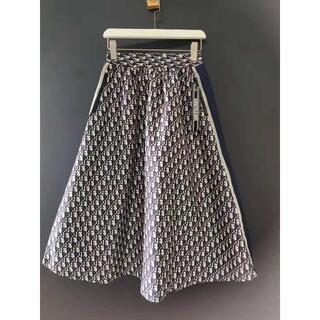 Dior - 【Dior】2021SS新作 ディオール オブリーク ミディスカート
