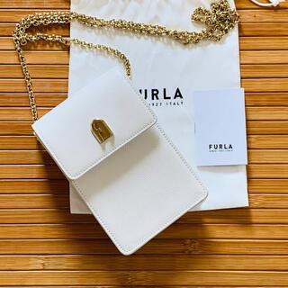 Furla - 美品 FURLA 1927 ミニ クロスボディ モバイルケース&カバー ホワイト