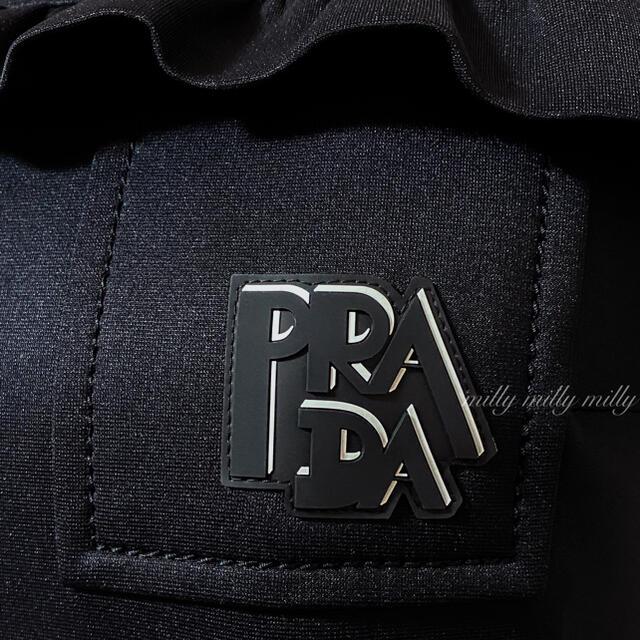 PRADA(プラダ)のご成約済みです*新品同様【PRADA】2018-19ロゴフリルワンピース レディースのワンピース(ひざ丈ワンピース)の商品写真