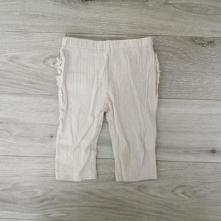 petit main - 【美品】petitmain バックフリル7分丈パンツ 90