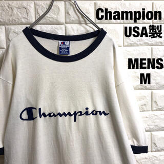 Champion - チャンピオン USA製 リンガーTシャツ メンズMサイズ