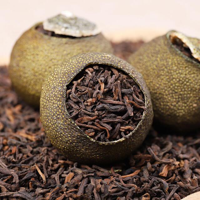 中国茶 小青柑 宮廷プーアル茶30個セット 食品/飲料/酒の健康食品(健康茶)の商品写真