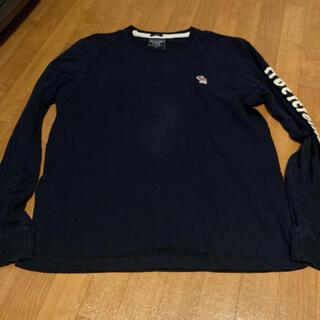 アバクロンビーアンドフィッチ(Abercrombie&Fitch)のアバクロ 長袖Tシャツ ネイビー(Tシャツ/カットソー(七分/長袖))