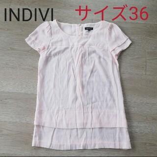 インディヴィ(INDIVI)のインディヴィ(カットソー(半袖/袖なし))