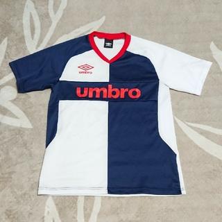 アンブロ(UMBRO)のアンブロ 160cm 半袖  白/紺(Tシャツ/カットソー)