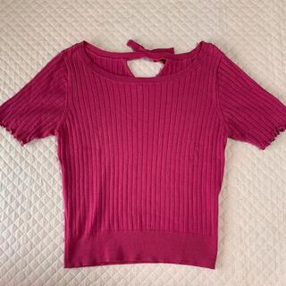 ビーラディエンス(BE RADIANCE)の BE RADIANCE ♡ ピンク半袖ニット(カットソー(半袖/袖なし))