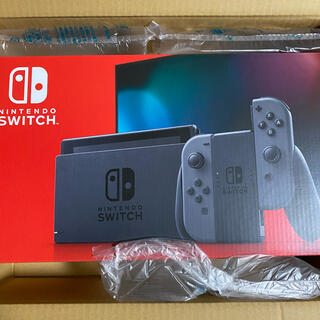ニンテンドースイッチ(Nintendo Switch)の【新品未開封】Switch 任天堂 スイッチ 本体 グレー ニンテンドウ(家庭用ゲーム機本体)
