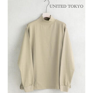 ステュディオス(STUDIOUS)のUNITED TOKYO ウルティマモックネック ハイネック ベージュ メンズ(Tシャツ/カットソー(七分/長袖))
