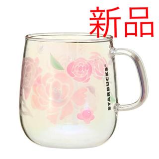 スターバックスコーヒー(Starbucks Coffee)の☆完売品☆スターバックス  耐熱グラスマグホログラムフラワーズ 355ml(グラス/カップ)
