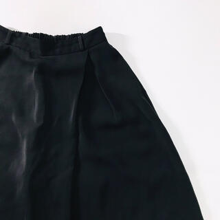 ジーユー(GU)のgu ジーユー  ガウチョパンツ ワイドパンツ  スカンツ レディース ブラック(カジュアルパンツ)