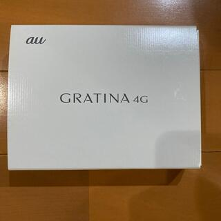 キョウセラ(京セラ)のau GRATINA 4G ホワイト(携帯電話本体)