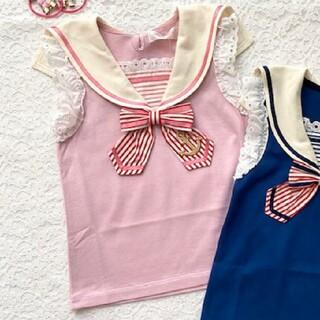 Shirley Temple - セーラー ピンク色 カットソー シャーリーテンプル