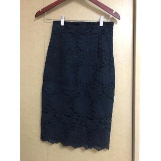 dholic - DHOLIC レースタイトスカート ネイビー