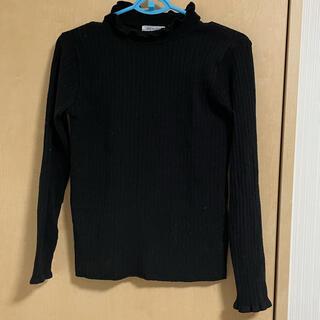 オリーブデオリーブ(OLIVEdesOLIVE)の黒 長袖 ニット 冬服 レディース(ニット/セーター)