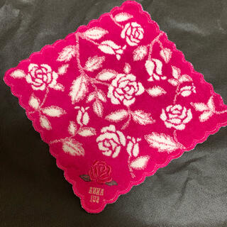 ANNA SUI - アナスイ タオルハンカチ ハンカチ フェイラー 薔薇 花柄 タオル