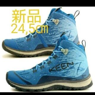 KEEN - 新品 キーンKEENトレッキングシューズ レディース24.5cm (ブルー)