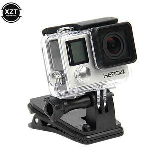 GoPro - 改良版)ネジ付GoPro360°回転式カメラクリップ取り付スタンド スマート