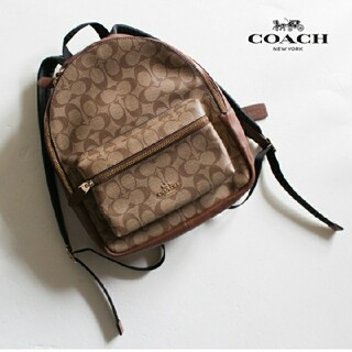 COACH - コーチ COACH■リュック バッグ bag シグネチャー ベージュ