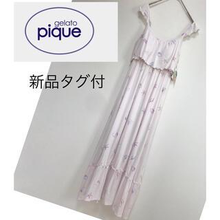 gelato pique - 新品未使用 ジェラートピケ ルームウェア キャミソールワンピース ピンク F