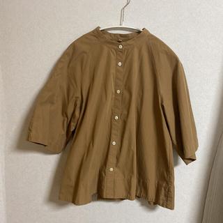 MUJI (無印良品) - 無印良品 五分袖シャツ
