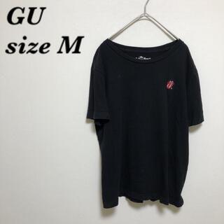 ジーユー(GU)のGU ローリングストーンズ コラボTシャツ ワンポイント(Tシャツ(半袖/袖なし))