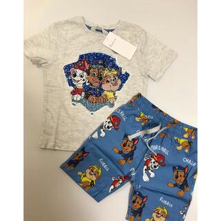 H&M - 最新作✨105 パウパトロール♡スパンコール Tシャツパンツ2点セットH&M