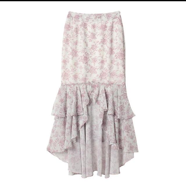 eimy istoire(エイミーイストワール)のeimy istoire Amanda flowerシフォンマーメードスカート レディースのワンピース(ロングワンピース/マキシワンピース)の商品写真