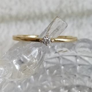 エテ(ete)のエテ♡ete K18 ひと粒ダイヤモンド リング(リング(指輪))