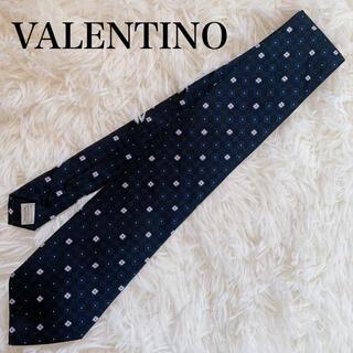 ヴァレンティノ(VALENTINO)の極美品 ヴァレンティノ ネクタイ 高級シルク 総柄 小紋 人気柄 人気色(ネクタイ)