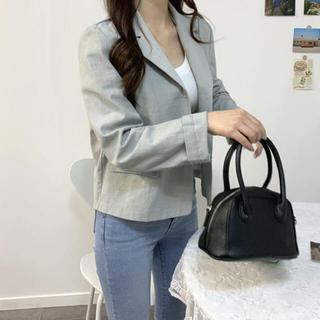 スタイルナンダ(STYLENANDA)の【予約商品】《4カラー》リネン Vネック ジャケット 韓国ファッション(ノーカラージャケット)
