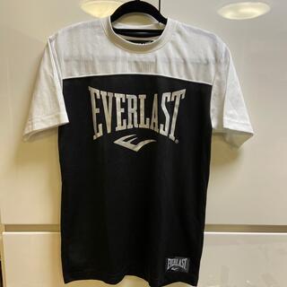 エバーラスト(EVERLAST)の美品☆EVERLAST黒×白ロゴTシャツ160(Tシャツ/カットソー)
