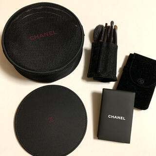 シャネル(CHANEL)のCHANEL シャネル 化粧ポーチ ミラー あぶらとり紙付きミラー メイクブラシ(その他)