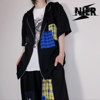 ACDC RAG - 【新品未使用】NieR ZIP パッチワーク 半袖パーカー ブラック
