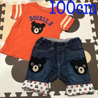 DOUBLE.B - ①ダブルB♡Tシャツ&6分丈パンツセット♡100cm