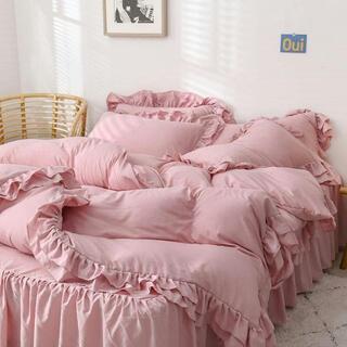 ピンクの夢♪安眠シングル布団カバー3点寝具セットシーツ枕カバー付 肌触最高