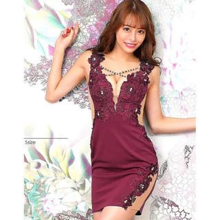 AngelR - 20837*希少カラー*ビジュークロス/シアー切替ドレス