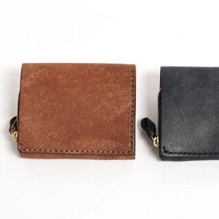 ヘルツ(HERZ)のHERZ 小型の二つ折り財布(NSA-6) チョコ ネビア特別仕様(折り財布)