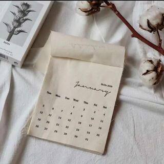 2021 ファブリックカレンダー ポストカード付き 壁掛け 卓上 北欧 シンプル