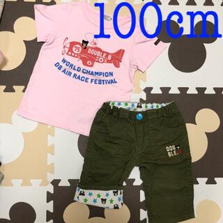 DOUBLE.B - ④ダブルB♡Tシャツ&6分丈パンツセット♡100cm