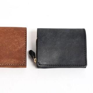 ヘルツ(HERZ)のHERZ 小型の二つ折り財布(NSA-6) ブラック ネビア特別仕様(折り財布)