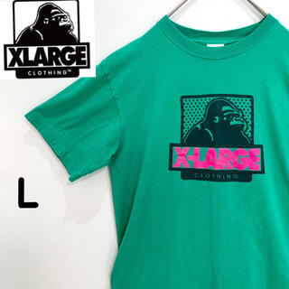 XLARGE - ☆Xラージ☆ Tシャツ グリーン デカロゴ  Lサイズ