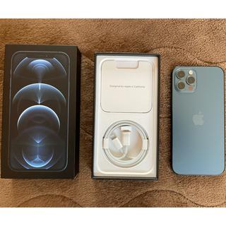 アイフォーン(iPhone)の【極美品】iPhone 12 pro 128GB パシフィックブルー シムフリー(スマートフォン本体)