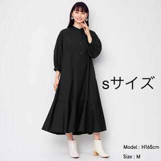 GU - 完売アイテム♡ GU バンドカラーシャツワンピース(7分袖)